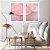 Conjunto com 02 quadros decorativos Abstrato Rosa e Lilás - Imagem 2