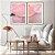 Conjunto com 02 quadros decorativos Abstrato Rosa e Lilás - Imagem 4