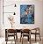 Quadro decorativo Abstrato Azul e Cobre - Imagem 1