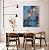 Quadro decorativo Abstrato Azul e Cobre - Imagem 3