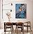 Quadro decorativo Abstrato Azul e Cobre - Imagem 2
