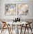 Conjunto com 02 quadros decorativos Abstrato Azul Suave - Imagem 3