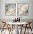 Conjunto com 02 quadros decorativos Abstrato Azul Suave - Imagem 2