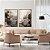 Conjunto com 02 quadros decorativos Abstrato Preto e Dourado - Imagem 4
