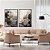 Conjunto com 02 quadros decorativos Abstrato Preto e Dourado - Imagem 1