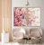 Conjunto com 02 quadros decorativos Galhos Cerejeira 50x70cm (LxA) Moldura Amadeirada - Imagem 1
