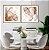 Conjunto com 02 quadros decorativos Abstrato Metal 60x60cm (LxA) Moldura Amadeirada  - Imagem 1