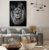 Quadro Decorativo Leão 70x90cm (LxA) Moldura na cor Preto - Imagem 1
