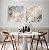 Conjunto com 02 Quadros Decorativos CANVAS Abstrato Azul e Bege 80x80cm (LxA) Moldura Canaleta na cor Branco - Imagem 1