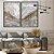 Conjunto com 02 Quadros Decorativos CANVAS Marmorizado Cinza  80x120cm (LxA) Moldura Canaleta na cor Preto - Imagem 1