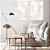 ENVIO IMEDIATO Conjunto com 02 quadros decorativos CANVAS Geométrico Rosa Suave 40x60cm (LxA) Moldura Canaleta cor Branco - Imagem 1