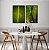 ENVIO IMEDIATO - Conjunto com 02 quadros decorativos Folhas Bananeira 52x72cm (LxA) Moldura cor Preto - Imagem 1