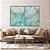 Conjunto com 02 quadros decorativos Abstrato Azul e Verde - Imagem 2