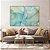 Conjunto com 02 quadros decorativos Abstrato Azul e Verde - Imagem 1