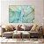 Conjunto com 02 quadros decorativos Abstrato Azul e Verde - Imagem 4