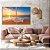 Conjunto com 02 quadros decorativos Pôr do Sol na Praia - Imagem 1