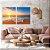 Conjunto com 02 quadros decorativos Pôr do Sol na Praia - Imagem 4