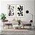Conjunto com 02 quadros decorativos Abstrato Preto, Branco e Dourado - Imagem 3