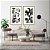 Conjunto com 02 quadros decorativos Abstrato Preto, Branco e Dourado - Imagem 4