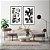 Conjunto com 02 quadros decorativos Abstrato Preto, Branco e Dourado - Imagem 1