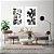 Conjunto com 02 quadros decorativos Abstrato Preto, Branco e Dourado - Imagem 2