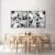 Conjunto com 02 quadros decorativos Geométrico  - Imagem 1