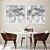 Conjunto com 02 quadros decorativos Abstrato Movimento - Imagem 2