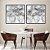 Conjunto com 02 quadros decorativos Abstrato Movimento - Imagem 1