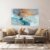 Quadro decorativo Abstrato Azul Gold - Imagem 1