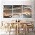 Conjunto com 03 quadros decorativos Formas Abstratas - Imagem 2