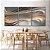 Conjunto com 03 quadros decorativos Formas Abstratas - Imagem 1