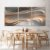 Conjunto com 03 quadros decorativos Formas Abstratas - Imagem 3