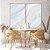 Conjunto com 02 quadros decorativos Abstrato Suave - Imagem 1