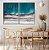 Conjunto com 02 quadros decorativos Abstrato Azul e Cinza - Imagem 2