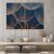Conjunto com 02 quadros decorativos Dente-de-leão Azul Escuro - Imagem 1