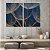 Conjunto com 02 quadros decorativos Dente-de-leão Azul Escuro - Imagem 2