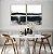 Conjunto com 02 quadros decorativos Pintura Abstrata Preto e Bege - Imagem 2