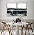 Conjunto com 02 quadros decorativos Pintura Abstrata Preto e Bege - Imagem 1