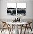 Conjunto com 02 quadros decorativos Pintura Abstrata Preto e Bege - Imagem 3