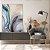 Quadro decorativo Abstrato Azul e Dourado - Imagem 1