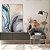Quadro decorativo Abstrato Azul e Dourado - Imagem 2