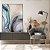 Quadro decorativo Abstrato Azul e Dourado - Imagem 3