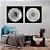 Conjunto com 02 quadros decorativos Dente-de-leão Preto e Branco - Imagem 1