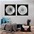 Conjunto com 02 quadros decorativos Dente-de-leão Preto e Branco - Imagem 4
