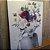 ENVIO IMEDIATO - Quadro Decorativo Mulher Floral Rosa 50x70cm (LxA) Moldura Alumínio Rose Gold - Imagem 2