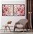 Conjunto com 02 quadros decorativos Galhos Cerejeira - Imagem 3