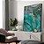 Quadro decorativo Abstrato Verde, Cinza e Dourado - Imagem 1