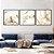 Conjunto com 03 quadros decorativos Abstrato Mostarda - Imagem 3