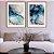 Conjunto com 02 quadros decorativos Abstrato Azul e Cinza - Imagem 3