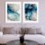 Conjunto com 02 quadros decorativos Abstrato Azul e Cinza - Imagem 1